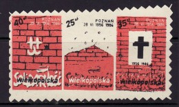 POLAND SOLIDARNOSC - 1986 POCZTA SOLIDARNOSC WIELKOPOLSKA -30 ANNIVERSARY OF POZNAN JUNE 1956   MNH - Solidarnosc-Vignetten