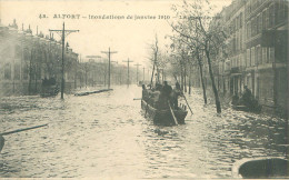 CPA        Inondations 1910  Alfort  La Grande Rue       560 - Maisons Alfort