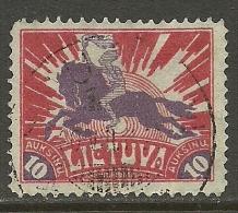 LITAUEN Lithuania 1921 Michel 99 A Ritter 10 Auk. O - Lithuania