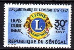 Sénégal N° 292 X  Cinquantenaire Du Lions International Trace De Charnière Sinon TB - Senegal (1960-...)