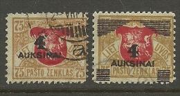 LITAUEN Lithuania 1922 Michel 116 - 117 O - Lituanie