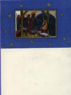 Thème - Voeux - Noël -  Carte à Volets En 3 Dimensions - Crèche - Thanksgiving