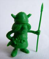 RARE FIGURINE PUBLICITAIRE DUNKIN ESPAGNOLE VIC LE VIKING A05 Monochrome Vert - Pas Wiko Boomer - Figurines