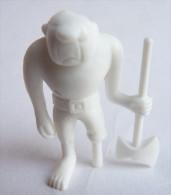 RARE FIGURINE PUBLICITAIRE DUNKIN ESPAGNOLE VIC LE VIKING A14 Monochrome Blanc - Pas Wiko Boomer - Figurines