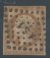 Lot N°27024   Variété/n°13Ac Bistre Brun, Oblit Losange AS1° De PARIS, Filet OUEST Absent - 1853-1860 Napoleon III