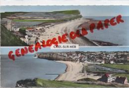 76 - CRIEL SUR MER - LA PLAGE ET LE MONT JOLIBOIS   VUE GENERALE -1959 - Criel Sur Mer
