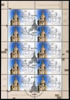 A06-09-9) BRD - 10x Michel 2491 - OO Gestempelt Kleinbogen - Dresdner Frauenkirche, Kirche - Wert: 10,00 Mi€ - [7] República Federal