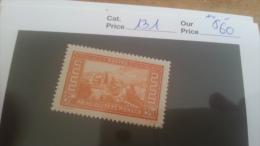 LOT 225501 TIMBRE DE MONACO NEUF* N�131 VALEUR 60 EUROS