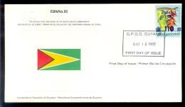 GUYANA * FDC ESPANA 82 1982 FOOTBALL SOCCER FUSSBAL VOETBAL - Guyana (1966-...)
