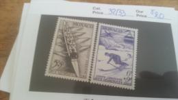 LOT 225529 TIMBRE DE MONACO NEUF* N�32/33 VALEUR 20 EUROS