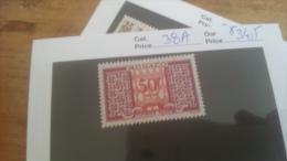 LOT 225531 TIMBRE DE MONACO NEUF* N�38A VALEUR 34,5 EUROS
