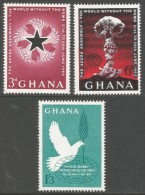 Ghana. 1962 Accra Assembly. MH Complete Set. SG 283-5 - Ghana (1957-...)