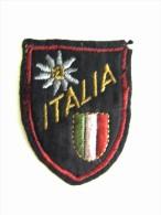 ITALIA STELLA  ALPINA   VECCHIA  PATCH - TOPPA   TELA  PANNO TESSUTO - Scudetti In Tela