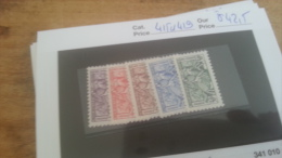 LOT 225536 TIMBRE DE MONACO NEUF* N�415 A 419 VALEUR 42,5 EUROS