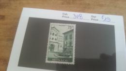 LOT 225537 TIMBRE DE MONACO NEUF* N�398 VALEUR 19 EUROS