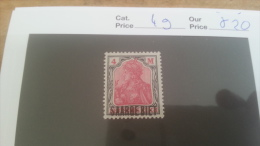 LOT 225550 TIMBRE DE COLONIE SARRE NEUF* N�49 VALEUR 20 EUROS