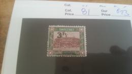LOT 225551 TIMBRE DE COLONIE SARRE NEUF* N�81 VALEUR 23 EUROS