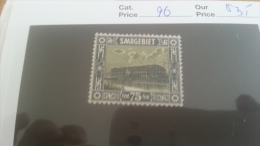 LOT 225553 TIMBRE DE COLONIE SARRE NEUF* N�96 VALEUR 35 EUROS