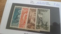 LOT 225554 TIMBRE DE COLONIE SARRE NEUF* N�103 A 106 VALEUR 60 EUROS