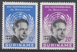 Surinam Mi.nr.:413-414 Tod Von Dag Hammarskjöld 1962 Neuf Sans Charniere / MNH / Postfris - Suriname