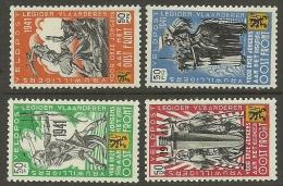 Deutschland Belgium Flämische Legion 23.12.1941 Kompletter Satz Michel I - IV MNH - Besetzungen 1938-45
