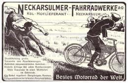 Original Werbung - 1905 - NSU Motorrad , Neckarsulm , Moto , Oldtimer !!! - Motorräder