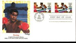 USA FDC JO De Los Angelés : Boxe - Summer 1984: Los Angeles