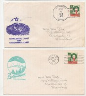 US - BETHLEHEM New Hampshire And Conn - 2 COMM CACHETED 1962 CHRISTMAS COVERS To MARYLAND - Omslagen Van Evenementen