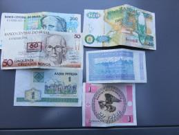 Lot De 6 Billets En Trés Bon état - Monnaies & Billets