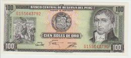 Peru 100 Soles De Oro 1975 Pick 108 UNC - Perú