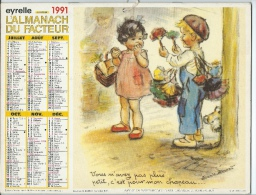 CALENDRIER GERMAINE BOURET grand format 1991 T.B. �tat COMPLET