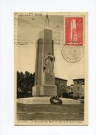 !!! CARTE MAXIMUM SERVICE DE SANTE CACHET ILLUSTRE INAUGURATION DE L'HOTEL DES POSTES 17/7/1938 - Maximum Cards