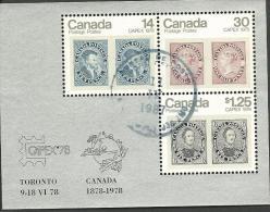 CANADA : Obl, BF N°1, TB - Briefe U. Dokumente