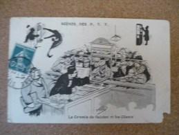 Scènes Des P.T.T. Le Commis De Guichet Et Les Clients - Illustrateurs & Photographes