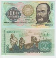 Peru 1000 Soles De Oro 1976 Pick 116 UNC - Peru