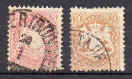 Allemagne - Baviere - 1870-73 - Mi.Nr 23Y+28Y - Bayern (Baviera)