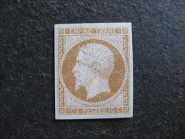 A).  N°13A Neuf X.  GNO . Cote = 900 Euros. - 1853-1860 Napoléon III.