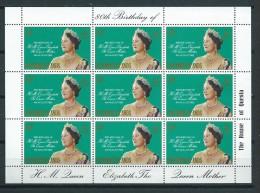 1980 Solomon Islands Complete M/Sheet Queen Mother Birthday MNH,Postfris,Neuf Sans Charniere - Reptielen & Amfibieën