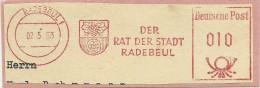 Nice Cut Meter City Arm Radebeul 2-5-1963 Der Rat Der Stadt - [7] West-Duitsland