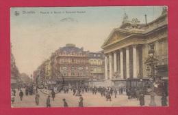 BRUXELLES     //   Place De La Bourse Et Boulevard Anspach - Marktpleinen, Pleinen