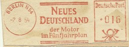 Nice Cut Meter NEUES DEUTSCHLAND Der Motor In Funfjahrplan, Berlin 2-8-1954 - [7] West-Duitsland
