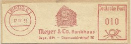 Nice Cut Meter Meyer & Co Bankhaus, Leipzig 12-12-1955 Building - [7] West-Duitsland