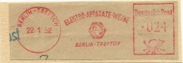Nice Cut Meter Elektro-Apparate-Werke, Berlin-Treftow 22-1-1952 - Elektriciteit