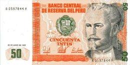 Peru 50 Soles De Oro 1987 Pick 131 UNC - Perú