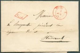 LAC De VERVIERS Le 1 Avril 1844 Vers Hodimont - 10175 - 1830-1849 (Belgique Indépendante)