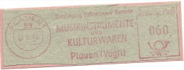 Nice Cut Meter Musikinstrumente Und Kulturwaren, Plauen 20-6-1980 - Theater