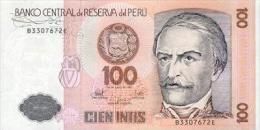 Peru 100 Intis 1987 Pick 133 UNC - Perú