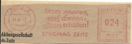 Nice Cut Meter Strom Sparen, Erst Denken, Dann Schalten! Stromag Zeitz 12-6-1947 - Elektriciteit