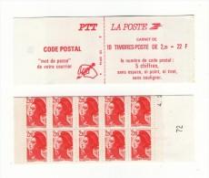 Carnet Liberté YT 2427-C1 Avec 2 Chiffres Au Lieu De 3 + Date Partielle . Pas Courant , Voir Scan . Maury N° 470a : 25 € - Carnets