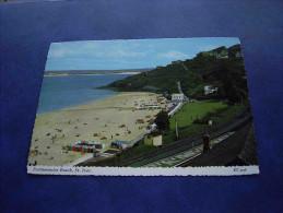 Lotrain CPA GB Porthminster Beach St Ives Avec Voie Ferrée - St.Ives